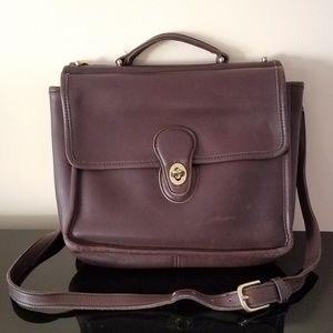 Vintage Coach Leather Messenger Crossbody Hand Bag